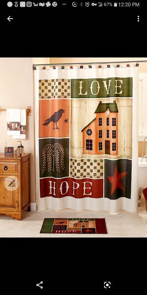 Hope primitive shower curtain for Sale in Beckley, WV
