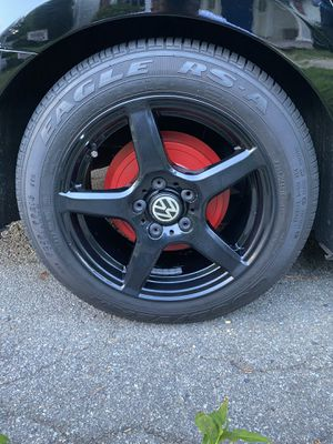 Set of sport edition rims. Podercoated gloss black. for Sale in Brockton, MA