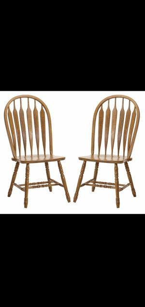 Solid oak wood chairs for Sale in Covina, CA