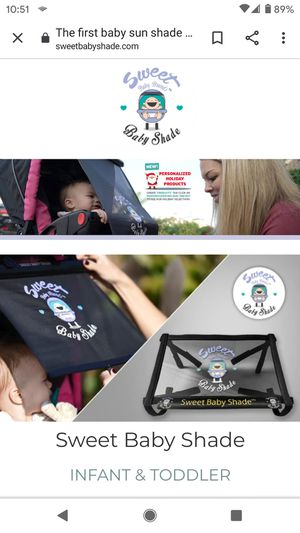 Sweet Baby Shade/Toddler Deluxe stroller and car shade for Sale in Oceanside, CA