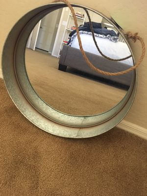 Round Metal Rope Wall Mirror for Sale in Laveen Village, AZ
