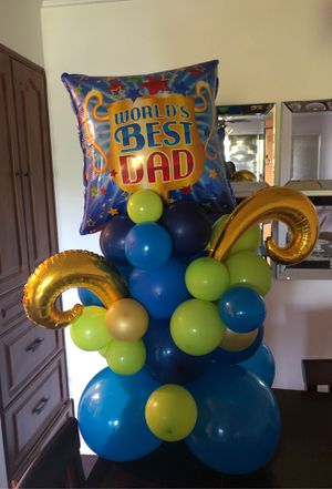Balloons Bouquet to celebrate Father's Day for Sale in Port St. Lucie, FL