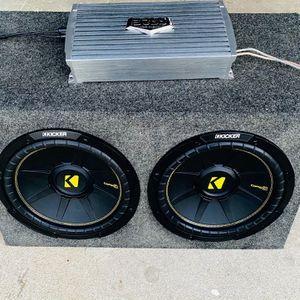 ($260 No Less -no Menos )?Kicker Comp C 12s / 2000 Watt Amp / New Sub Box for Sale in Sanger, CA