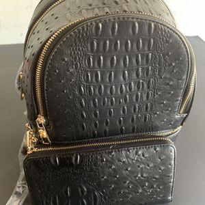 Matching Black Book Bag N Wallet Set for Sale in Marietta, GA