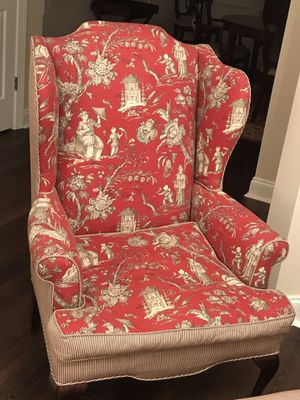 Living Room Chair and Ottoman for Sale in Atlanta, GA