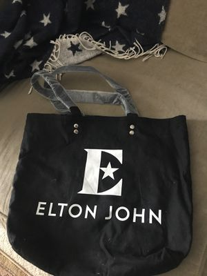 ELTON JOHN BLACK TOTE BAG for Sale in Winter Springs, FL
