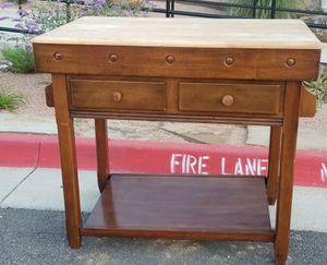 Beautiful butcher block wood kitchen island Table for Sale in Arlington, TX