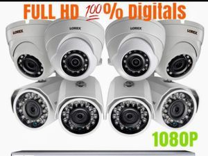 Security cameras systems installations 8 set- Hablo Espanol for Sale in Grand Prairie, TX
