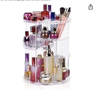 Brand New 360° Rotating Makeup Organizer, Adjustable Multi-Function Cosmetic Storage Organizer, Large Capacity Jewelry Perfumes Display Stand Box (Cle for Sale in Santa Ana, CA