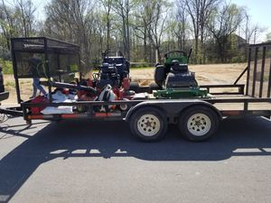 18 ft. Trailer with cage and weed eater rack for Sale in Charlotte, NC