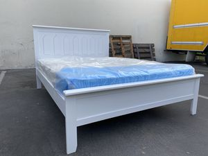 Full Size Bed Frame with Mattress for Sale in Hawthorne, CA