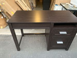 Espresso finish sit or stand lift top desk with storage underneath 2 easy glide drawers / brand new in the box unassembled / 47x30x20 for Sale in Las Vegas, NV