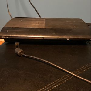Sony PS3 Two Controllers Slim Black for Sale in Brockton, MA