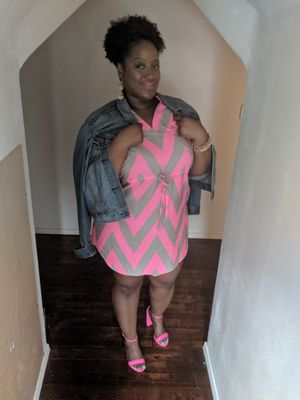 Grey and pink silky feel dress for Sale in Cleveland, OH