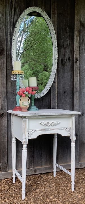 """""""Shabby Chic"""" Vintage Entry Table - End Table ~~Antique Mirror Sold Separately for Sale in Hillsboro, OR"""