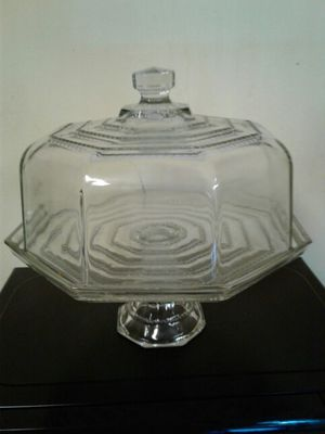 Antique glass cake holder for Sale in Charlotte, NC