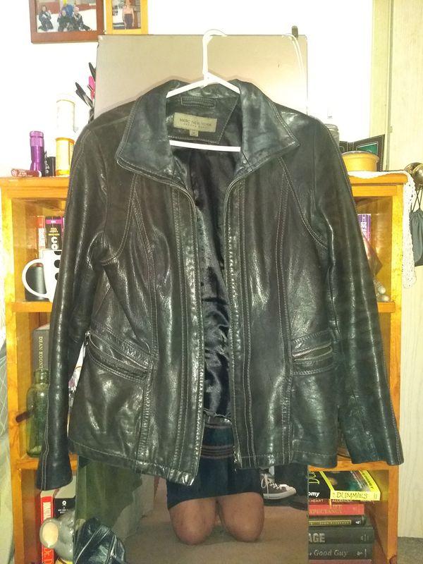 Marc New York Dark Brown Sz M Leather Jacket