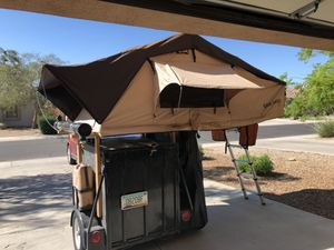 Small trailer with roof top tent for Sale in Litchfield Park, AZ
