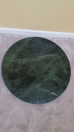 Green Round Granit coffee table top for Sale in Manassas, VA
