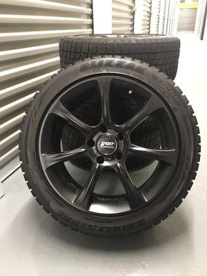 """Blizzak winter tires w/ 18"""" rims - black for Sale in Chicago, IL"""