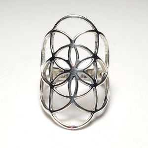 Silver Geometric Ring for Sale in Winston-Salem, NC