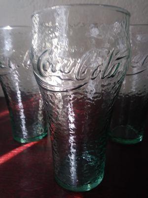 Vintage green pebble Coke cups for Sale in Redlands, CA