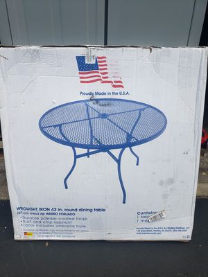 "Wrought Iron 42"" Round Dining Table for Sale in Lenexa, KS"
