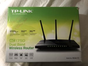 TP-LINK AC1750 Dual Band Wireless Router, Model: Archer C7 for Sale in New York, NY