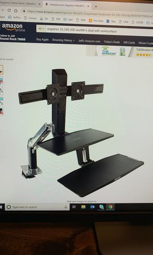 Ergotron Workfit sit/stand dual monitor stand for Sale in Round Rock, TX