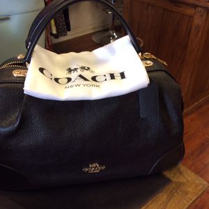 NEW Coach Lane Pebble Leather Black W/dust Bag & Satchel W/ Tags. Retails $395.00 ON Sale Now $175.00 for Sale in Palm Springs, CA