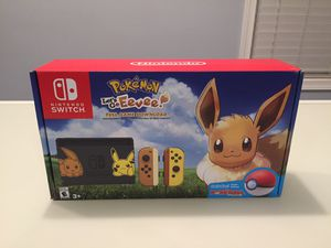 Nintendo Switch Console Bundle - Pikachu and Eevee Edition with Pokemon: Let's Go, Eevee! + Poke Ball Plus for Sale in Bethesda, MD