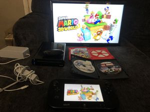 Wii U with Mario and 2 Controllers for Sale in Bakersfield, CA