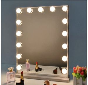 Nitin Hollywood Vanity Mirror with Lights, Dimmable Tabletop/Wall Cosmetic Lighted Makeup Beauty Mirror for Sale in Arlington, TX