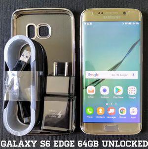 Galaxy S6 Edge (64GB) GSM-UNLOCKED + Verizon + Accessories for Sale in Falls Church, VA