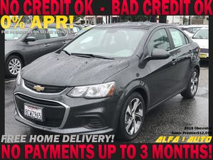 2018 Chevy Chevrolete sonic premiere clean title automatic finance lease car dealer bad credit uber lyft for Sale in Long Beach, CA