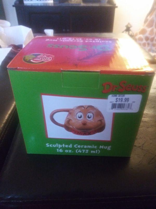 Dr. Seuss The Grinch Sculpted Mug