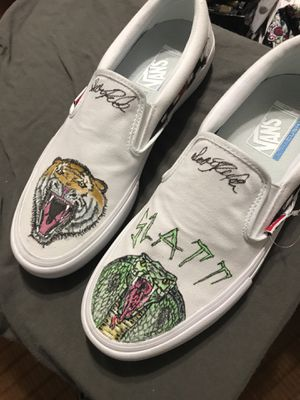 Handpainted 1 of 1 vans size 10.5 for Sale in West Palm Beach, FL