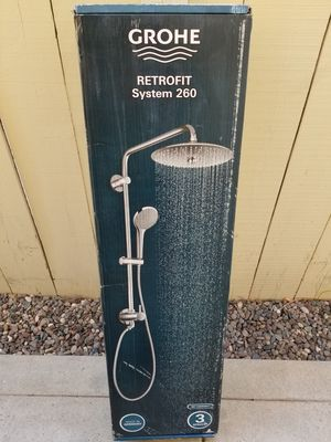 GROHE Retro-Fit 3-Spray Dual Showerhead and Handheld Showerhead in Chrome for Sale in Murrieta, CA