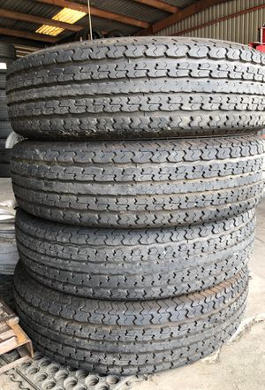 4 st 235/80/16 tow max 10 ply trailer tires for Sale in Pasadena, TX