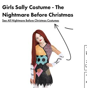 Girls Sally Costume - The Nightmare Before Christmas for Sale in Chula Vista, CA