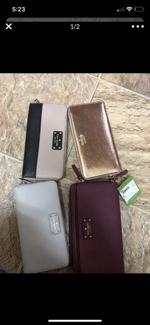 Kate spade authentic wallets brand new never used for 250$ only great deal for Sale in Bellevue, WA