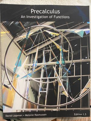 Precalculus- an Investigation of Functions Textbook for Sale in Seattle, WA