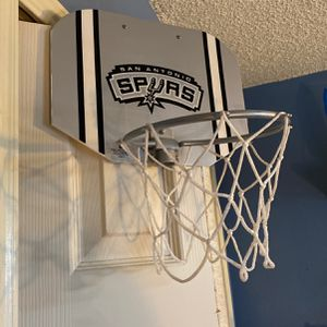 Spurs Over-the-door Basketball Hoop With Ball Included for Sale in San Antonio, TX