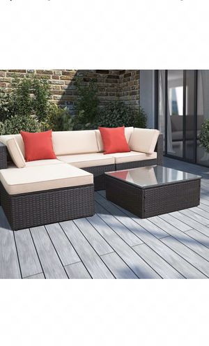 Outdoor furniture, patio sectional, ottoman included for Sale in Maricopa, AZ