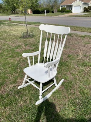 Great Condition Wooden White Rocking Chair for Sale in Virginia Beach, VA