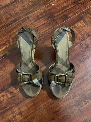 Women's Burberry wedge heels for Sale in Diamond Bar, CA