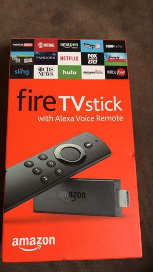 Amazon Fire tv with stickAlexa voice remote for Sale in Whitman, MA
