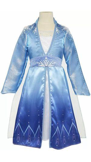 Frozen 2 Elsa costume play dress kids 4-6x for Sale in Apopka, FL