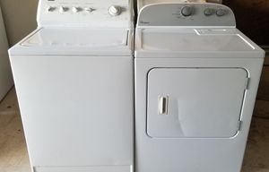 washer and electric dryer super capacity for Sale in Lathrop, CA