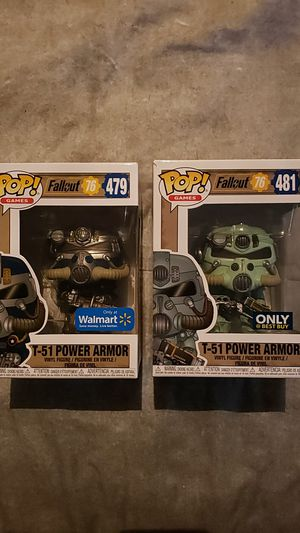 Funko Pop Fallout 76 T-51 Power Armor Exclusive Lot for Sale in Newberg, OR